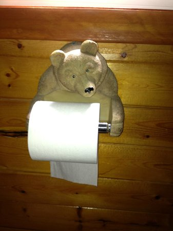 Superior Motel & Suites: I seriously love this bear toilet paper holder!
