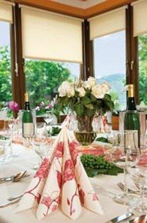 Hotel Hutter: gedeckte tafel