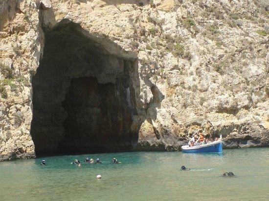 """Cliffs of San Lawrenz and Dwejra: Inland Sea """"Pool"""""""