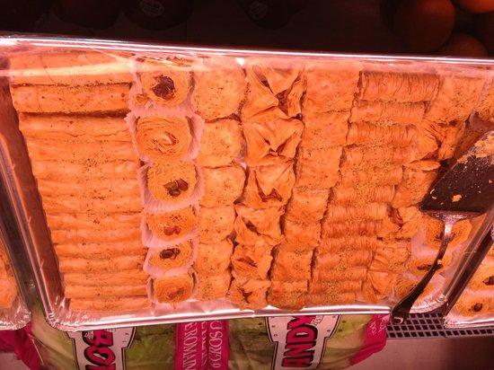 Jo Jo Mediterranean Grill : Baklava, kanafeh, Harissa WOW!