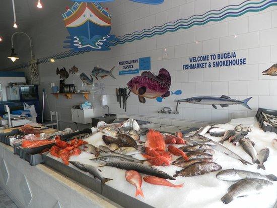 Bugeja fishmarket at Ghajnsielem Gozo