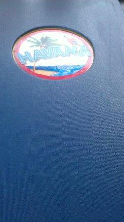 Havana Restaurant & Bar: Detalle de la carta