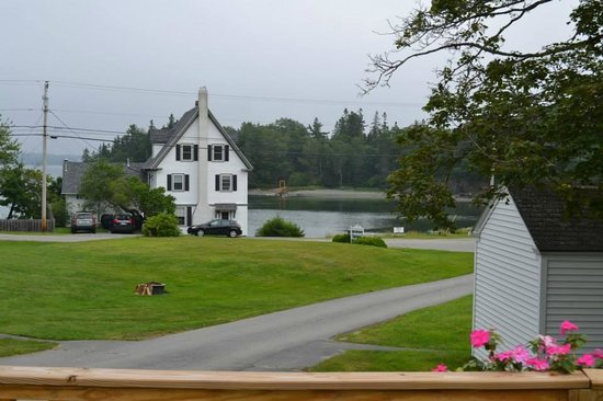 Bay Meadow Cottages: View to the Cove from the ranch house