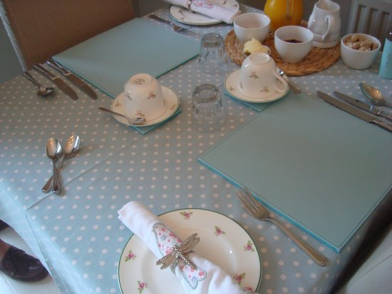 Llety Betws: breakfasttable