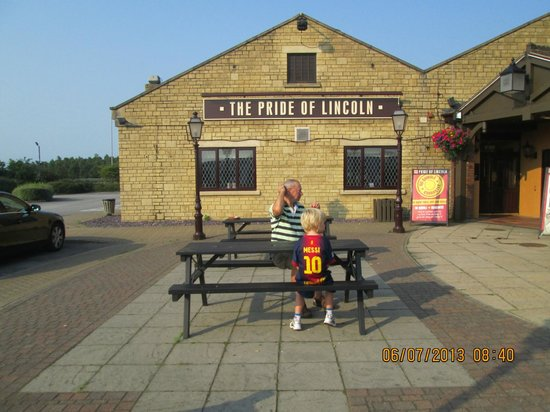 The Pride of Lincoln: In front of main reception