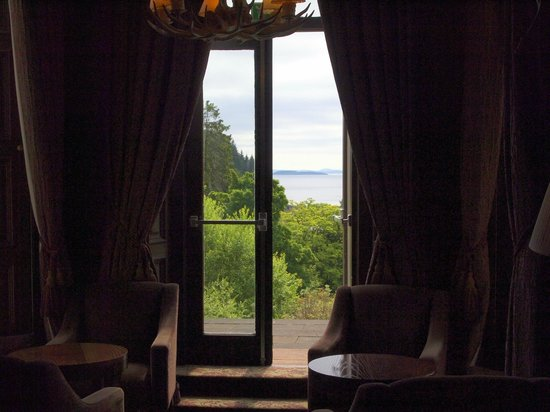 Stonefield Castle Hotel: View from the bar area