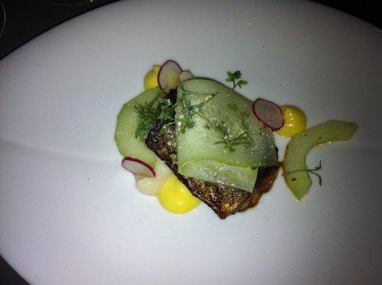 Den Lille Fede Restaurant : Makrel, pastinak creme