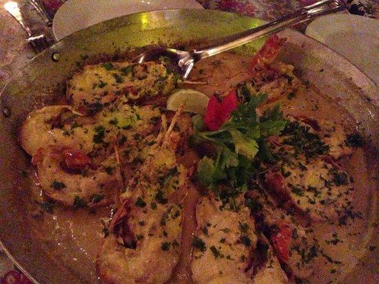 Hotel Villa Taina: Lobster ala Papi at Papi's on the beach