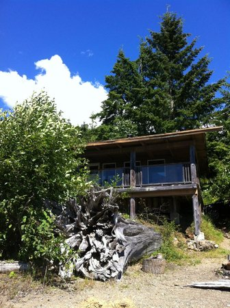 Strathcona Park Lodge & Outdoor Education Centre: This is our lakeside cabin-balcony facing lake.