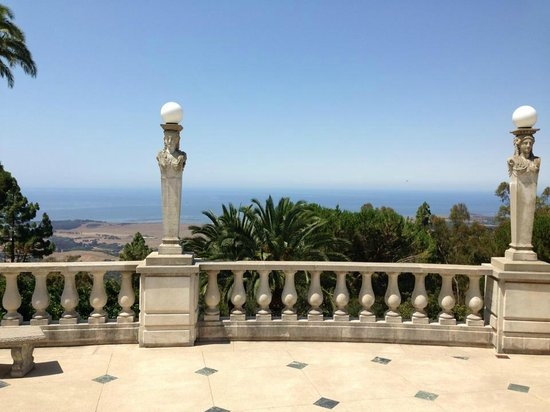 Hearst Castle: view from the castle