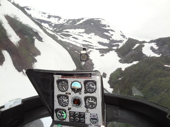 Ketchikan Helicopters: View from the cockpit of the helicopter