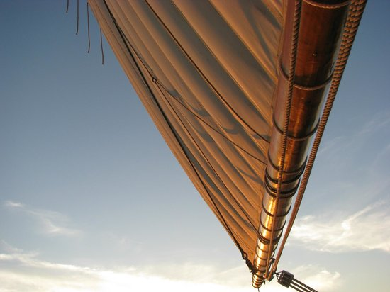 Bay Sail: Sails are full in a gentle breeze