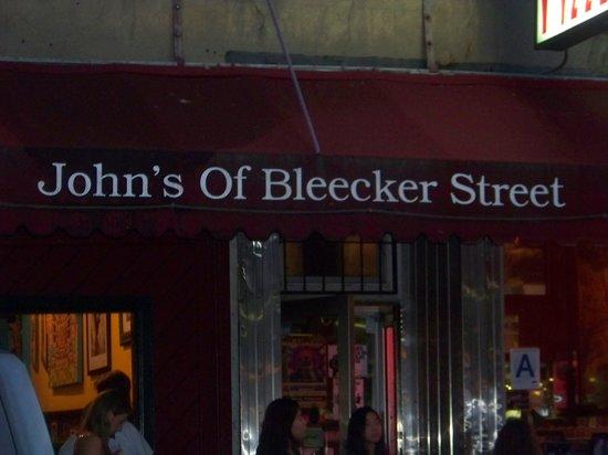 John's of Bleecker Street : Front of restaurant.