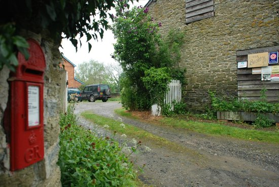 Entrance into old farmyard at Lower Buckton Country House
