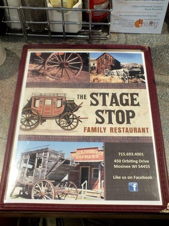 The Stage Stop Family Restaurant: The Menu