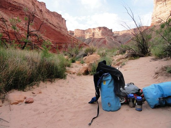 Arizona Raft Adventures: Dry bag at campground