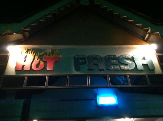 Hot & Fresh: front sign