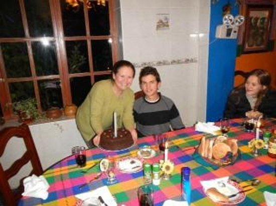 Hosteria Rumichaca: Con Irene festejando mi cumpleaños