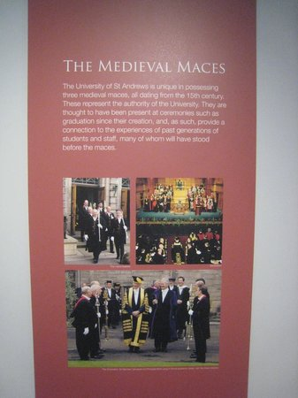 Museum of the University of St Andrews: descriptions of  15th century medieval maces in MUSA's collection