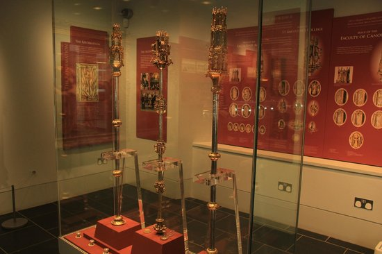 Museum of the University of St Andrews: The collection of  three medieval maces since 15th century