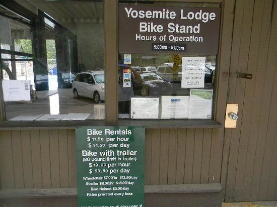 building bike stand 31 dollar a day bike stand picture of yosemite valley lodge