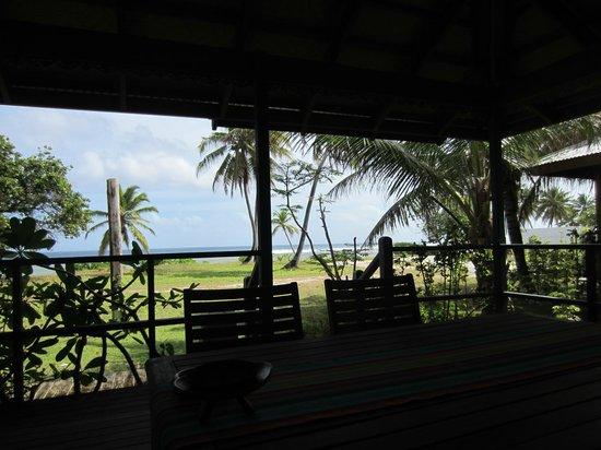 Cocos Castaway: Looking from verandah to Indian Ocean