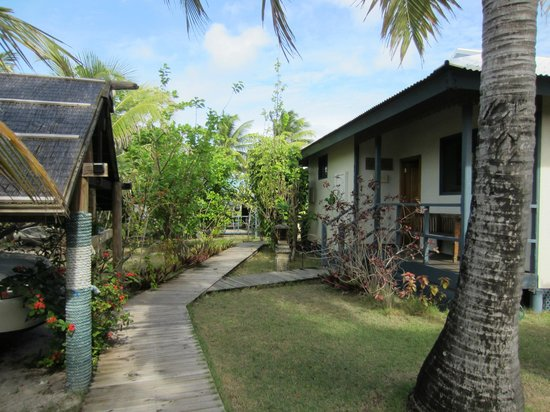 Cocos Castaway: Front entry to Retreat