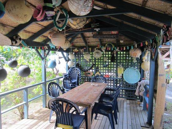 BBQ area at Cocos Castaway
