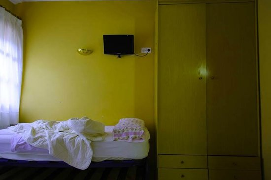 Hotel Esquirol : real photo of the trippe room