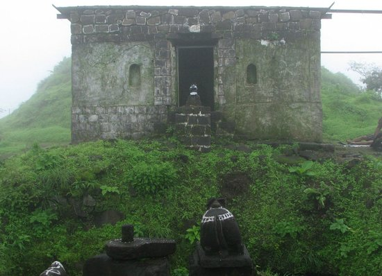 Shiva temple on the Lohagad fort