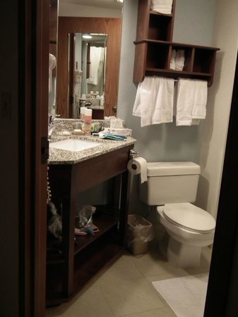 Best Western Plus Dayton South: Liked shelving under the sink.