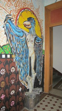Hostel One Home: Mural downstairs