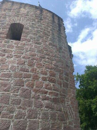 Burgruine Hardenburg: Westbollwerk - Geschützturm
