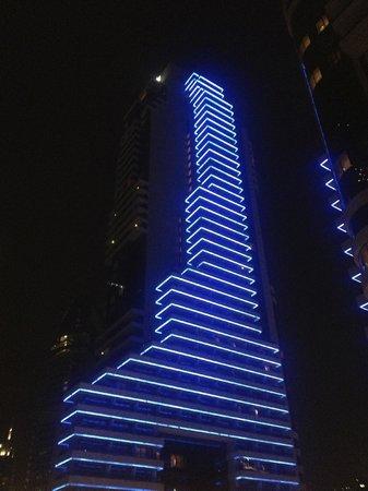 Beleuchtung des Hotels