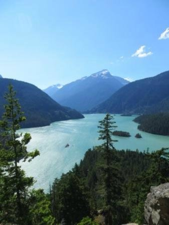 Colonial Creek Campground - Stehekin Valley Trail: View from Diablo Overlook