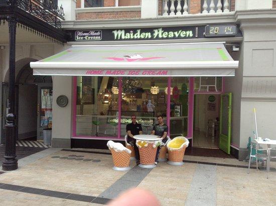 Maiden Heaven: Front of shop