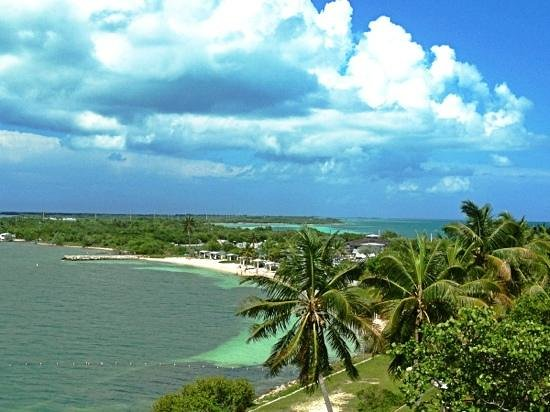 Bahia Honda State Park Campgrounds: view from the old seven miles bridge