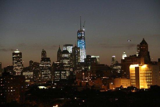 Fairfield Inn & Suites New York Brooklyn: Same view with zoom lens - Manhattan seems so close