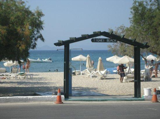 Tigaki Beach Hotel : Strand vor dem Hotel