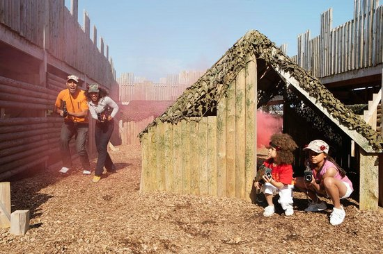 Filey, UK : Laser combat at Primrose Valley Holiday Park