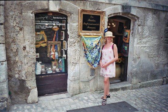 Baumaniere les Baux de Provence: Glittering boutiques set into the old stones of the village of Les Baux: magnetic.