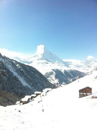 Othmar's Skihuette: Matterhorn view from terrace