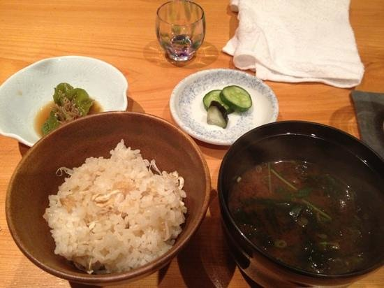Kassai: ginger rice and soup