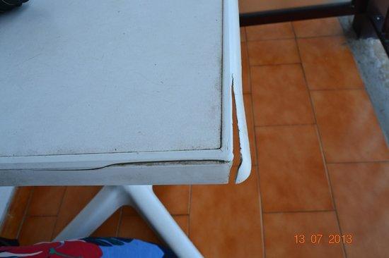 Aparthotel Castillete: Mobiliario roto