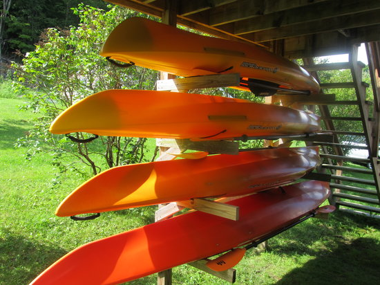 Fruitlands Bed and Breakfast: Our WS Pungo rental kayaks: Pungo 100, 120, 140