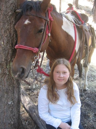 Hideout Ranch: Emmy with her favorite Kiowa