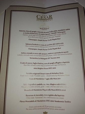 La Posta Vecchia Hotel: il menu' degustazione