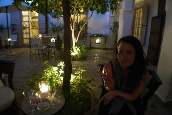 Riad Clementine: drinks before dinner
