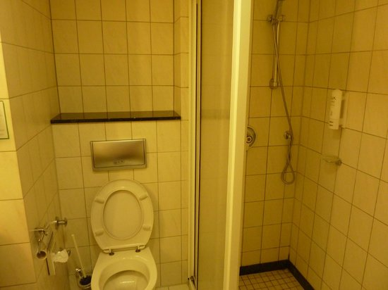 Holiday Inn Luebeck: Shower a bit dated and shabby looking, but clean and functional