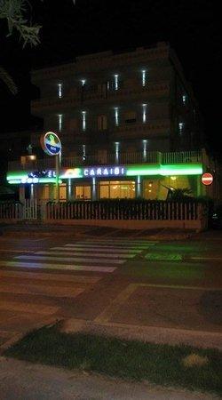 Hotel caraibi di notte
